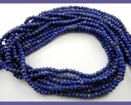 """AA++ 3.00MM LAPIS LAZULI FACETED ROUNDEL BEAD STRAND!!"""