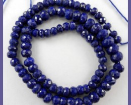 """AAA 6.00-9.00MM BEST COLOR LAPIS LAZULI FACETED ROUNDELS!!"""