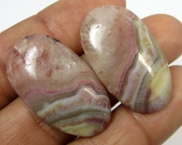32 CTS  PAIR  CRYSTAL FORMED  AGATE    GG 934