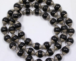 365 CTS ONYX STRAND BEADS 10 MM 24 INCHES - 50 BEADS