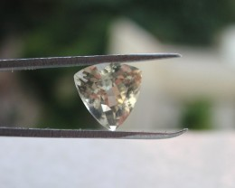 2.20ct MARVELLOUS TRILLION FACETED BERYL HELIODORE GEM AFRICA EL2