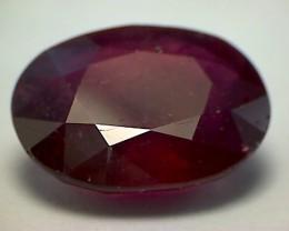 7.35ct Dark Silky Blood Red Oval African Ruby - B243