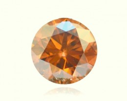 NATURAL-GIA-CERTIFIED-0.63CTW, ORANGE BROWN DIAMOND, RAREST