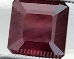 3.24 ct Emerald Cut Deep Red African Ruby A412 F73