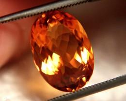 Vibrant Orange VVS 4.48 Carat Citrine - Beautiful Gemstone