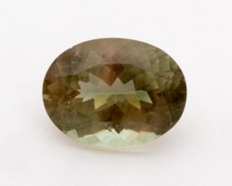 5.6ct Oregon Sunstone, Champagne/Green Oval (S1214)