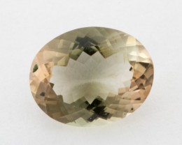 2.2ct Oregon Sunstone, Clear/Green Oval (S1223)