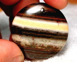111 Carat Tiger Iron Eye Pendantstone - 40mm
