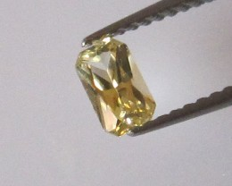0.31cts Natural Australian Radiant Cut Yellow Sapphire