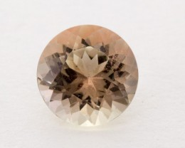 1.3ct Oregon Sunstone, Clear/Peach Round (S872)
