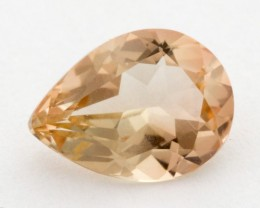 1.3ct Oregon Sunstone, Clear/Peach Pear (S1004)