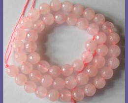 BEAUTIFULLY CUT A+ 8.00MM ROSE QUARTZ BEADS!!!