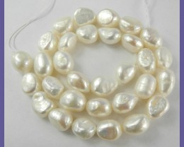"""GREAT VAUE A+++ CREAMY WHITE 9.5X10-11MM BAROQUE PEARLS!!"""