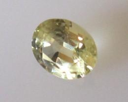 0.85cts Australian Yellow Sapphire Oval Cut