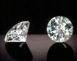 NATURAL SOLITIARE DIAMOND,1.02CTWSIZE-2PCS PAIR ,NR