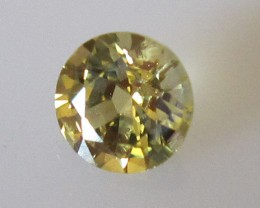 0.66cts Natural Australian Round Yellow Sapphire