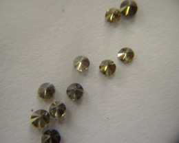 NATURAL-BOTTLEGREEN DIAMOND, 2.5MMSIZE-10PCS,FORMAKINGRING