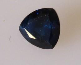 0.63cts Natural Australian Trillion Cut Blue Sapphire