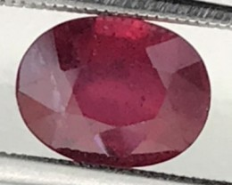 2.7 ct Stunning Lustrous Natural Red Ruby A428 F74