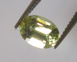 0.88cts AUSTRALIAN YELLOW PARTI SAPPHIRE OVAL