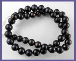 AA++ ELEGANT BLACK/PURPLE 8.50-9.50MM 'ROUND' F/WATER PEARLS