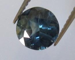 1.42cts Natural Australian Round Blue Sapphire