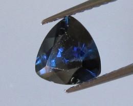 0.86cts Natural Australian Trillion Cut Blue Sapphire