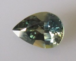 1.24cts AUSTRALIAN YELLOW PARTI SAPPHIRE PEAR SHAPE