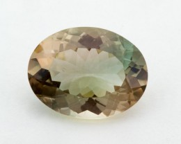 5.4ct Oregon Sunstone, Champagne/Green Oval (S1255)
