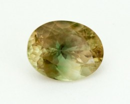 4.9ct Oregon Sunstone, Green/Champagne Oval (S1653)