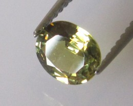 0.66cts Australian Yellow Parti Sapphire Oval Cut