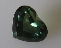 1.19cts Australian Green Sapphire Heart Shape