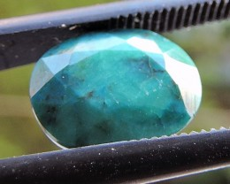 1.95ct CHRYSOCOLLA OVAL FACETED SPECIMEN GEMSTONE FROM MADAGASCAR