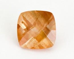 4.4ct Oregon Sunstone, Peach Square (S1470)