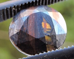 2.35ct TIGER IRON ROUND FACETED SPECIMEN GEMSTONE FROM AUSTRALIA