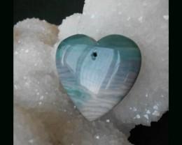 Wave Jasper heart-shape pendant bead,30x30x7mm,8.19g