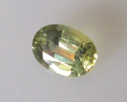 0.56cts AUSTRALIAN YELLOW PARTI SAPPHIRE OVAL