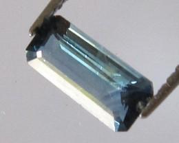 0.64cts Natural Australian Blue Sapphire Emerald Cut
