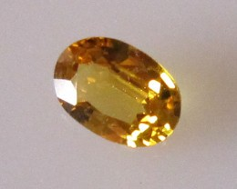 0.38cts Natural Australian Golden Yellow Sapphire Oval
