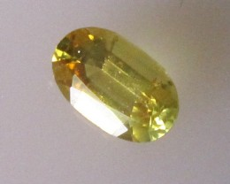 0.48cts Natural Australian Yellow Sapphire Oval