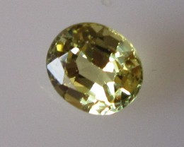 0.63cts Natural Australian Yellow Sapphire Oval