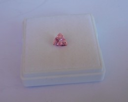 1.26ct CERTIFIED Trilliant Cut Vibrant Pink Mahenge Spinel VVS -A509