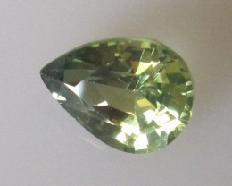 1.23cts AUSTRALIAN YELLOW PARTI SAPPHIRE PEAR SHAPE