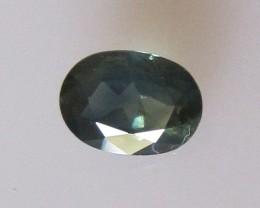 0.82cts Natural Australian Oval Cut Blue Sapphire