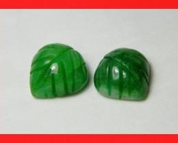 17cts Brazil Emerald Carved Stone Z743