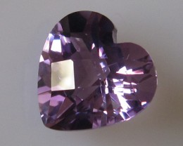 7.15cts VERY BRIGHT AMETHYST HEART CUT
