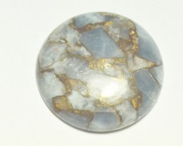 29mm round mojave calcite 29mm by 6mm deep