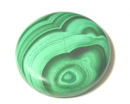 AAA MUSEUM GRADE 40mm 126ct Malachite round green cabochon