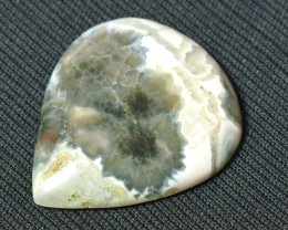 Heart shape Ocean Jasper cabochon  38mm by 32mm by 6mm