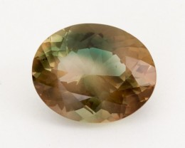 7.2ct Oregon Sunstone, Bicolor Champagne/Green Oval (S1862)